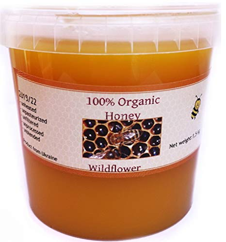 1.5kg Pure Honey Raw Organic Unfiltered Unheated- Unpasteurised CREAMED Honey Freshly Harvested