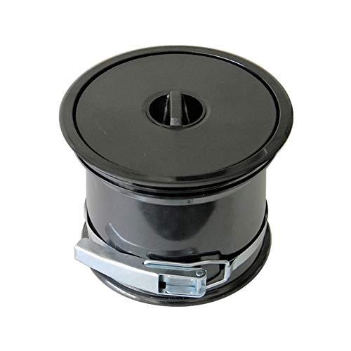 Vide-ordures pour plan de travail avec couvercle en pvc - Décor : Noir - ITAR