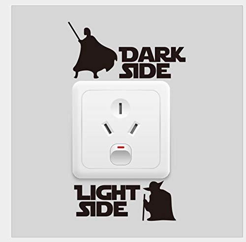Pegatinas de pared para dormitorios Dark Stde Star Wars Switch Wall Sticker Fabricante Europa y América Proverbios Pegatina de pared Inglés