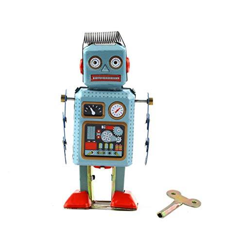 Pennytupu 1 unid vintage mecánico reloj viento hasta metal caminar robot lata juguete niños regalo en todo el mundo venta caliente