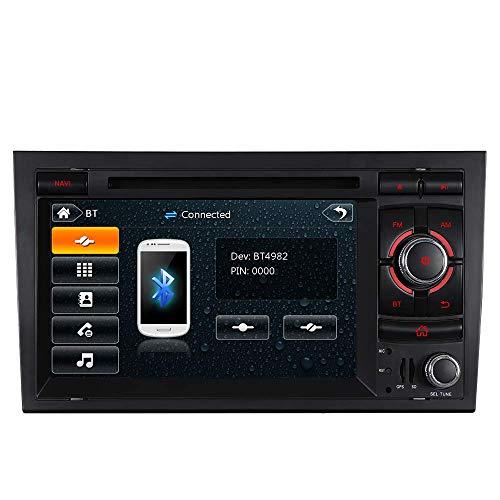 "Unilaterale Taste 7\"" AUTORADIO MIT 3G DVD GPS Navigation USB SD Bluetooth Autoradio CD Moniceiver+Bluetooth+ Dual Zone+Subwoofer+DAB+Mirrorlink+VMCD Für Audi A4 S4 RS4 B6 B7 Seat Exeo"
