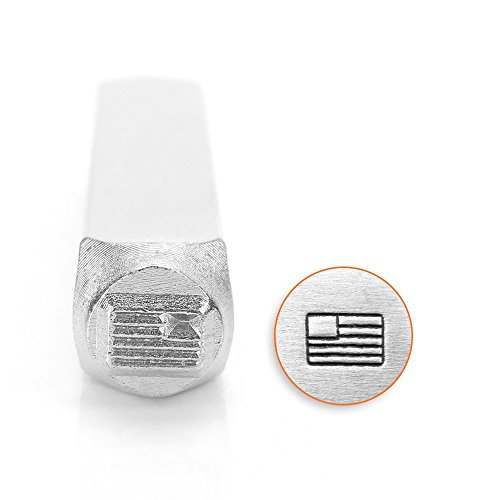 ImpressArt - 6mm, American Flag Design Metal Stamp