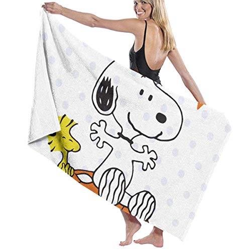 ETGBFHRDH Snoopy De Gran Tamaño Personalizado De Las Mujeres De Los Hombres De Secado Rápido De Playa Y Baño Manta Toalla De Natación Y Camping 31'x 51