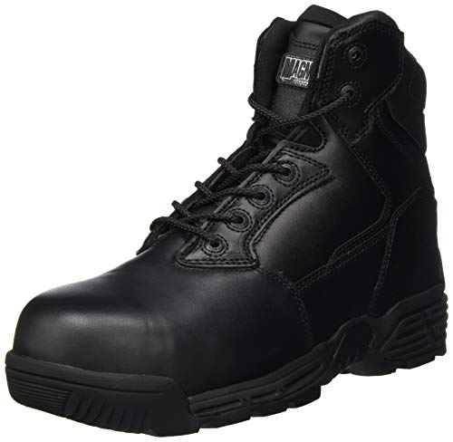 Hi-Tec M801429-021 Magnum Stealth Force 6.0 Cuero CT CP Punta y placa Compuesto Unisex Botas de seguridad Uniformes – Negro UK 11