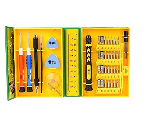HUAQINEI Trousse d outils d ouverture de réparation de Tournevis Multifonction 38 en 1 pour Ordinateur Portable Smartphone Montre avec étui