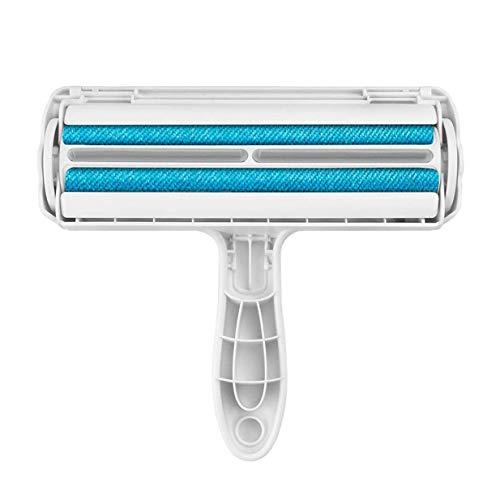Kurphy Pet Removedor de pelo con base de autolimpieza reutilizable para muebles, ropa, sofá, alfombras, removedor de pelo, color blanco