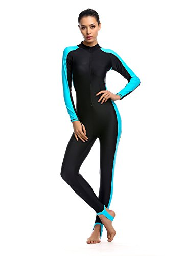 Women Fitness Full Length Wetsuit Surfing Suit One Piece Long Sleeve JumpSuit Surfing Diving Bodyboarding