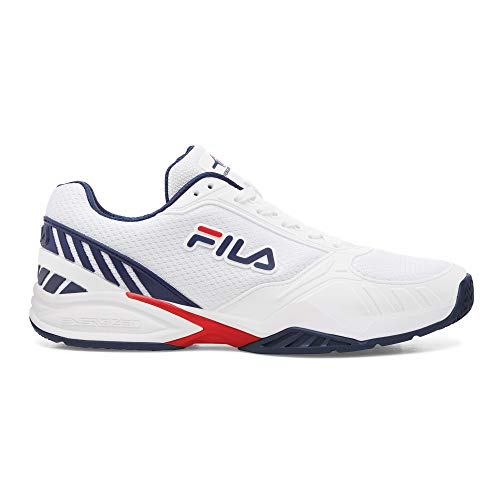 Fila Men's Volley Zone Shoes White/Navy/Red 11