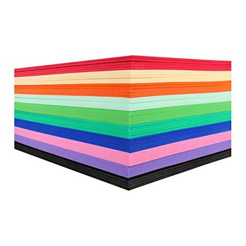 Milisten 50 Piezas de Hojas de Artesanía de Espuma Papel de Espuma de Esponja Eva 23 X 15 5 Cm Surtidos de Colores para Fiestas de Aula Diy Proyectos de Arte Y Manualidades para Niños