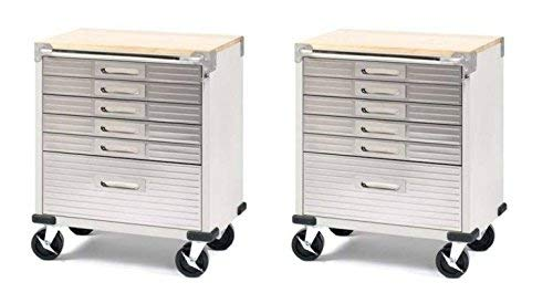 Seville Classics UltraHD 6-Drawer Rolling Cabinet Set Of 2