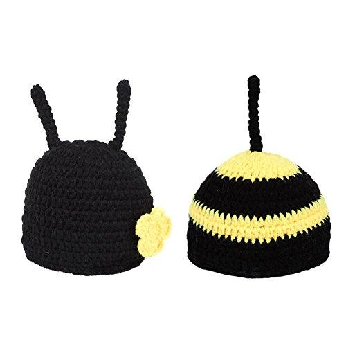 Xinvision Bambin Bee Costume Set Tricoté Photographie Photo Props Fait à la Main Tenue Cadeau pour Charmant Bébés