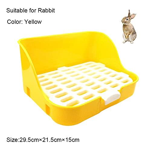 GYLB WBCMWh Hamster Animal de Compagnie Chat Rabbin Coin Plateau de litière Nettoyer Plateau d'entraînement de litière intérieur pour Petits Animaux domestiques Toilettes de Chat