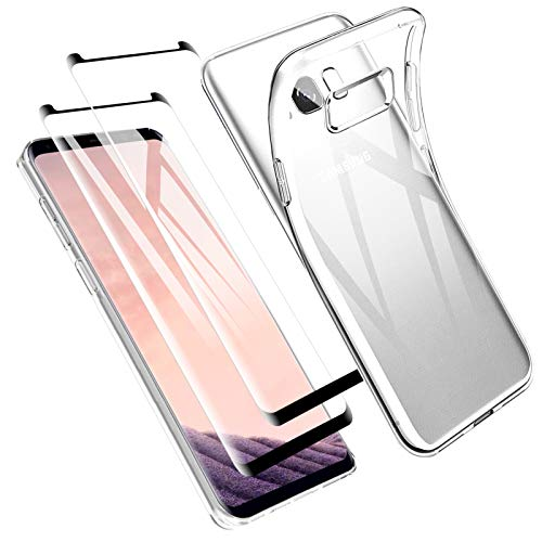 Zsmzzd Funda para Samsung Galaxy S8 Plus, 2 Pcs Protector de Pantalla...