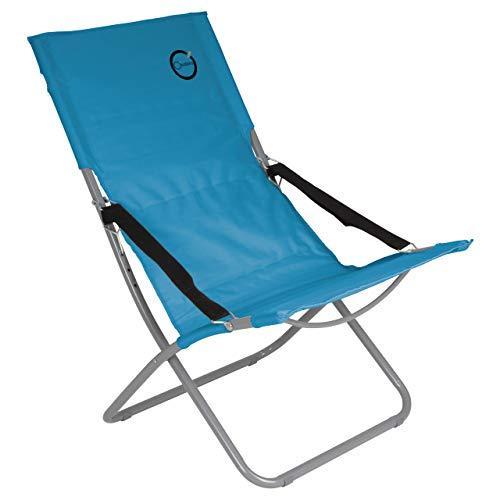 Nexos Campingstuhl klappbar Stahlrohr Gartenstuhl bis 110 kg abwaschbar pflegeleicht 80x60x92 cm 600D Farbe wählbar (Türkis)