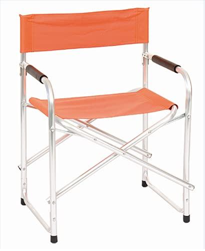 Sedia poltrona pieghevole REGISTA in alluminio pieghevole da campeggio mare giardino Arancione