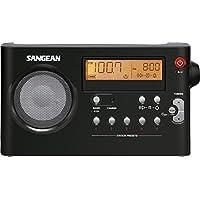 """Sangean PR-D7 - Radio portátil (Pantalla LCD de 3.3"""" , 7.2 voltios, Inalámbrico y alámbrico), Negro"""