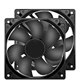 120mm Case Fan 120x120x25mm 12cm Computer PC Fan DC 12V 2Wire with 2Pin 3Pin 4Pin Connector Cooling Fan 1600RPM 2-Pack