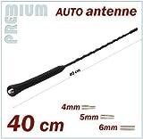 KFZ Antennenstab Universal INION® 40cm Stab Auto Antenne mit M4 M5 M6 Gewinde für RENAULT --- Clio - Espace - Scenic - Kangoo - Koleos - Laguna - Megane - Modus - Rapid - Twingo - Fluence --- Radio UKW / FM - Dachantenne