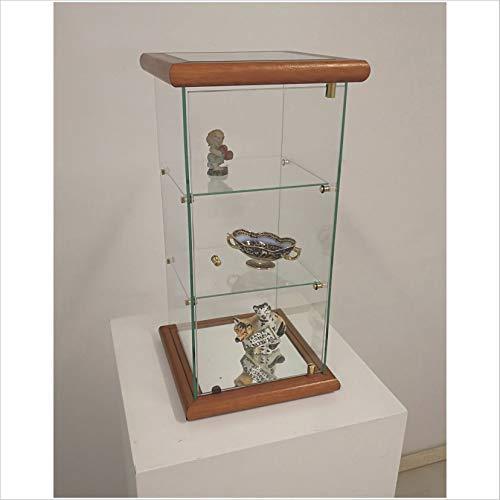VM ART DESIGN GLASS BY VETRERIA MICELI Vetrinetta espositiva da banco MOD: VM109T (Cherry Wood)
