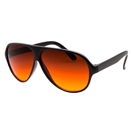 grinderPUNCH Blue Blocking Plastic Aviator Sunglasses Great for Driving Glossy