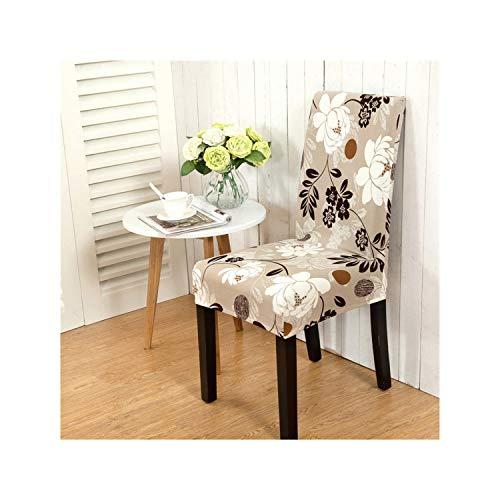 Cheryl Norri Blumendruck Stuhlhussen Spandex Für Hochzeit Esszimmer Büro Bankett Stretch Elastische Stuhlhussen Colour20 Universal Größe