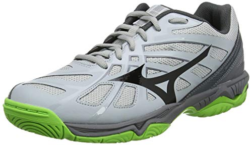 Mizuno Unisex Wave Hurricane 3 Volleyballschuhe, Grau (High Risk/Blk/Jasmineg 37), 43 EU