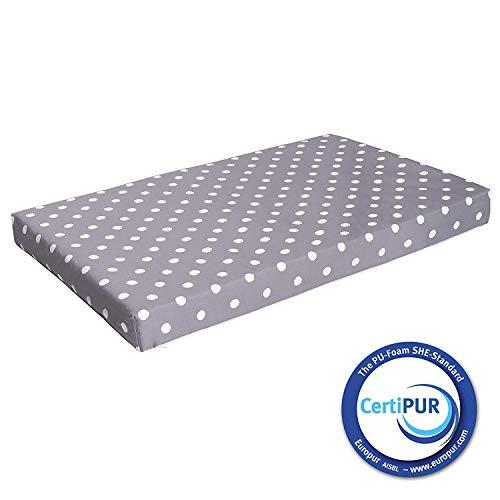 Milliard Colchón de cuna espuma hipoalergénica cuna cama colchón/Junior con cubierta impermeable 120cm x 60cm