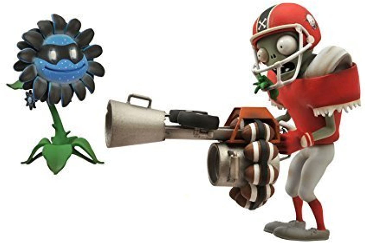 Diamond Select Toys Plants vs. Zombies  Garden Warfare  All-Star Football Zombie with Imp Bomb and Dark Sunflower with MariGold Select Action Figure (2-Pack) by Diamond Select