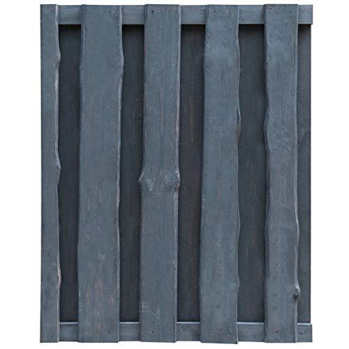 Ghuanton tuinpoort van FSC-hout, geïmpregneerd, 100 x 125 cm, grijs, artikelen voor beslag en hekken