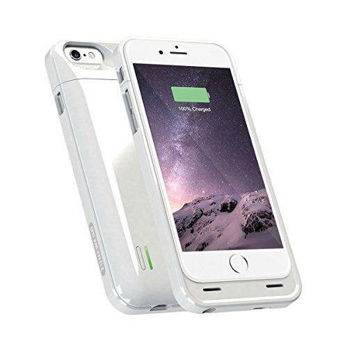 【日本正規代理店品・Apple MFi認証・Made for iPhone取得】TUNEWEAR ENERGY JACKET for iPhone 6s/6 (3,000mAh バッテリー内蔵ケース) ホワイト TUN-PH-000356
