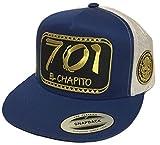 Mexico El chapito 701 2'' Aguila a lado All Gold 2 Logos hat Royal White mesh