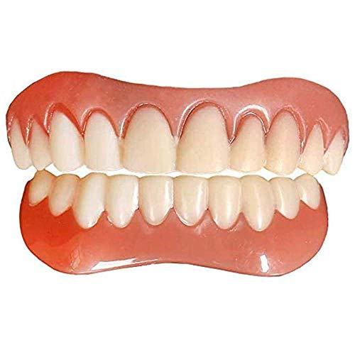 2 Stück Zahnersatz Provisorische Zahnprothese Oberkiefer und Unterkiefer, Reparieren Sie Schnell Ihre Zähne, Haben Sie Sofort ein Selbstbewusstes Lächeln