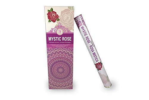 LAMARE Incienso Perfumado Rosa Mistica (6 Tubos x 20 Varillas)