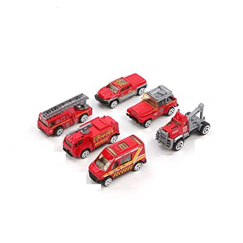 Feuerwehrauto-Spielzeug-Set, 6-teiliges...