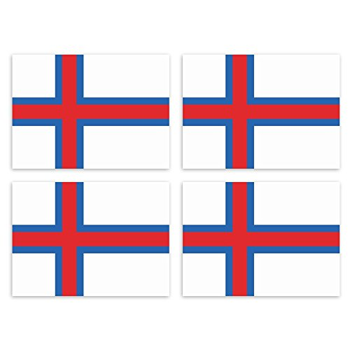 KIWISTAR Pegatina de 4,5 x 3,3 cm de Dinamarca, Islas Feroe, Estado, bandera de país, escudo, pegatina para matrícula