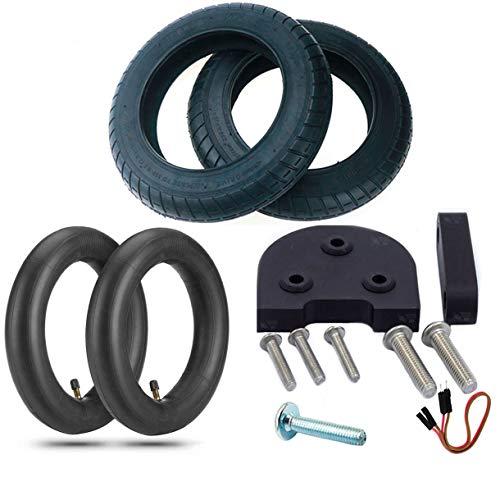 EWheel | Kit de Ruedas de 10 Pulgadas para Xiaomi M365 y Pro | 2 Cubiertas Wanda | 2 cámaras de 10x2 | Espaciador, Alzas y Tornillería | Cable Extensor de Luz