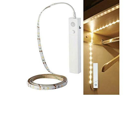 SD Shop–V-TAC Sensor de movimiento PIR tira LED luz de batería para Armario SKU 2573