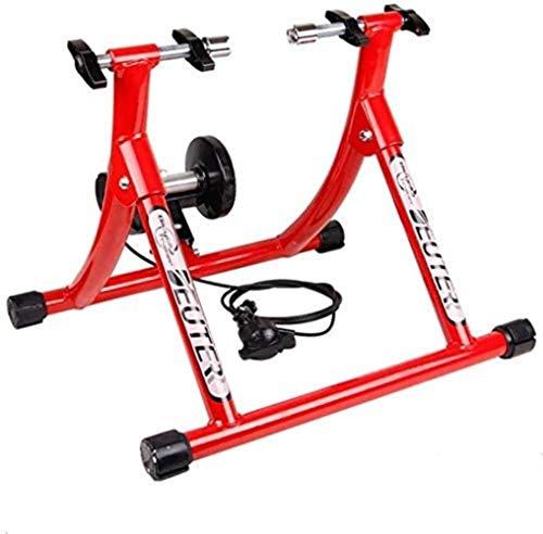 Woodtree Bicicletas función de formación en Bicicleta de montaña de la Bicicleta de Entrenador, la Bicicleta de Entrenador, Bicicletas estáticas, Verde, Color Plegable de Acero: Negro (Color : Red)