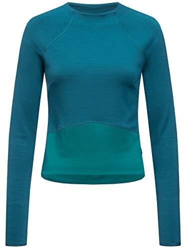 Supernatural Super Crop Sweatshirt Sweat-Shirt Femme, Legion Blue/Shaded Spruce, FR (Taille Fabricant : XL)