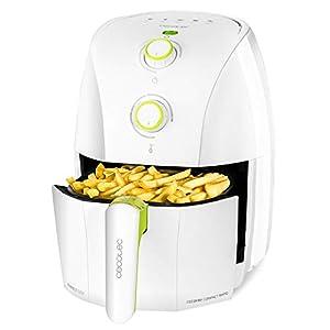 Cecotec Freidora dietética Cecofry Compact Rapid White.Capacidad para 400 gr de patatas, temperatura 200ºC, tiempo ajustable 0-30 min, incluye recetario