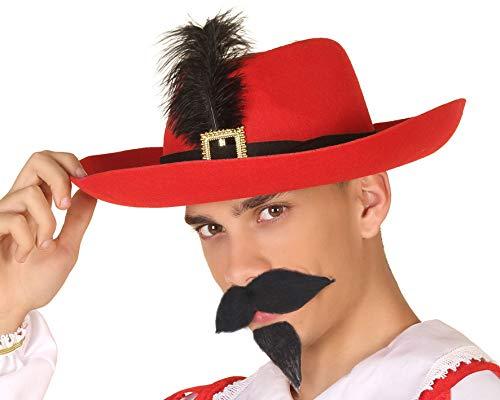 Atosa 35061 hoed musketier, rood, unisex – volwassenen