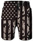 RAISEVERN Men's Swim Trunks Big and Tall Beachwear Camo American...