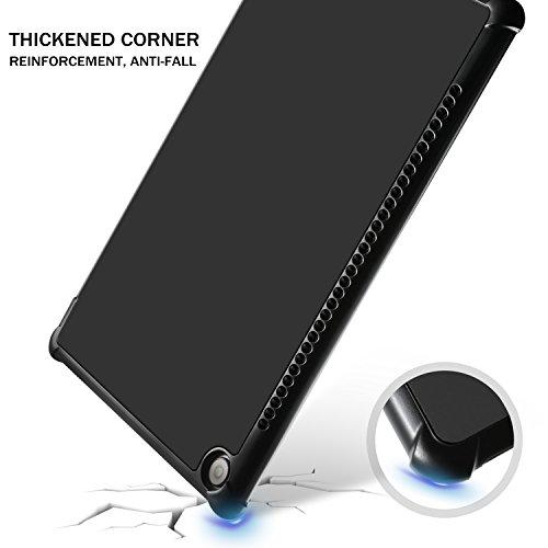 Huawei MediaPad M5 10.8 Zoll Hülle, IVSO Ultra Schlank Ständer Slim zubehör Schutzhülle perfekt geeignet für Huawei MediaPad M5 10.8 Pro /M5 10.8 2018 Modell Tablet PC (SZ-Schwarz) - 3