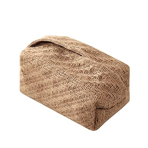 jinrun Dispensador de Toallas Caja de Tejido Simple Caja de Tejido Diseño Creativo Caja de Bombeo Caja de Cena Caja de pañuelos Caja de Almacenamiento de Tejidos de Mesa Caja de pañuelos (Color : A)