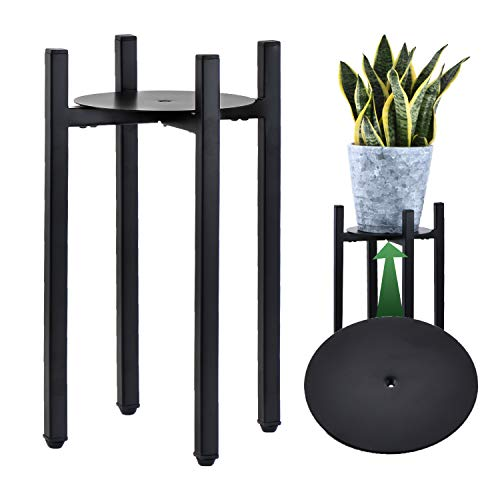 KESAIH Plant Stand with Tray, Tall Plant Stand for Indoor Plants with Adjustable...