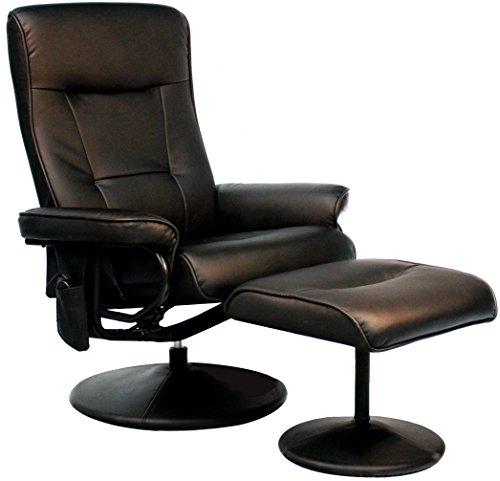Relaxzen Leisure Recliner Chair with 8-Motor Massage & Heat, Black