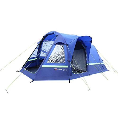 Berghaus Air 4 Inflatable 4 Person Family Tent, Blue, One Size