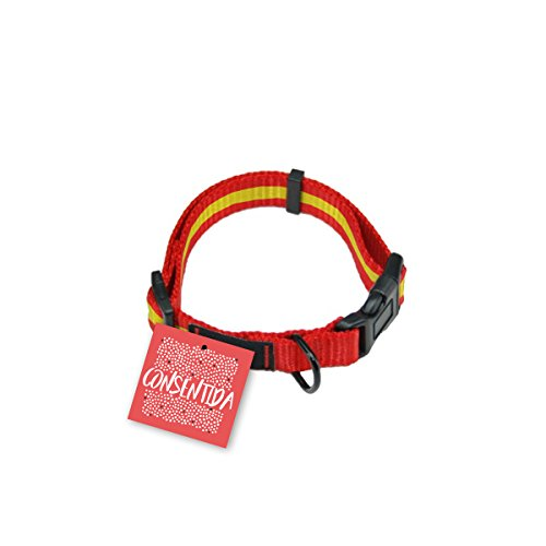 Consentida CN205536 Collar España T-1, 20-35 x 1 cm, S, Rojo y Amarillo
