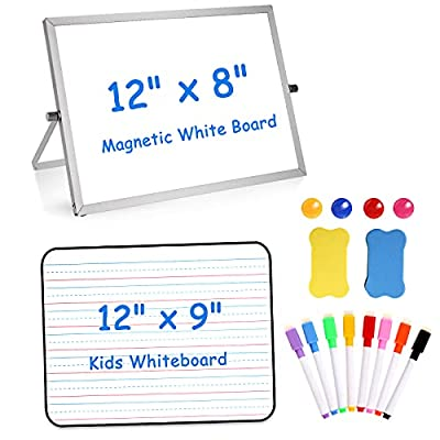 Lusurend 1Pack Small Dry Erase White Board for ...