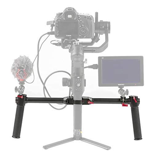 Sutefoto Dual Handle Grip Kit de Mano Extendido Compatible con dji Ronin-S Ronin-SC Ronin-SC Pro Combo dji RS 2 dji RSC 2/Moza Air 2 Gimbal Estabilizador